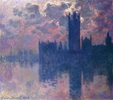 Monet's Houses of Parliament at Sunset